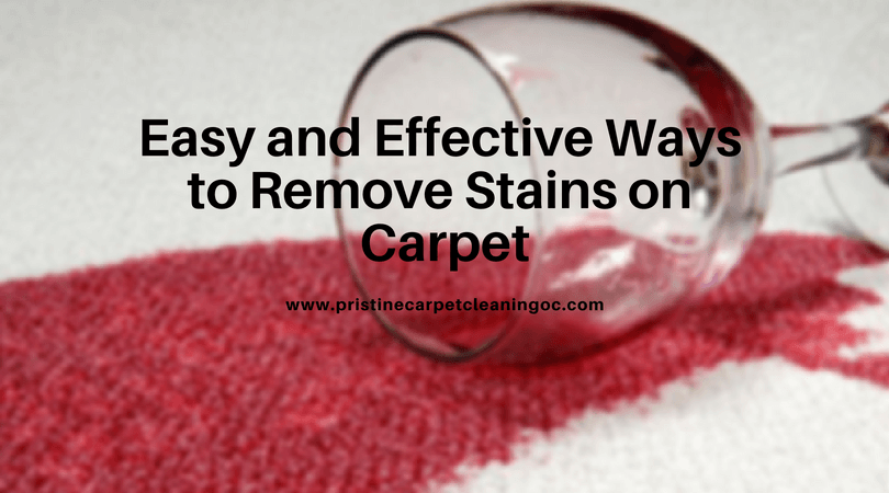Ways of carpet stain removal