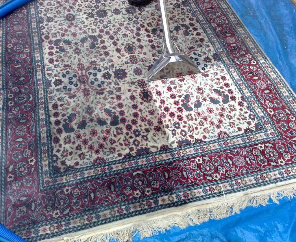 how to clean an oriental rug
