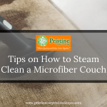 How to steam clean a microfiber couch