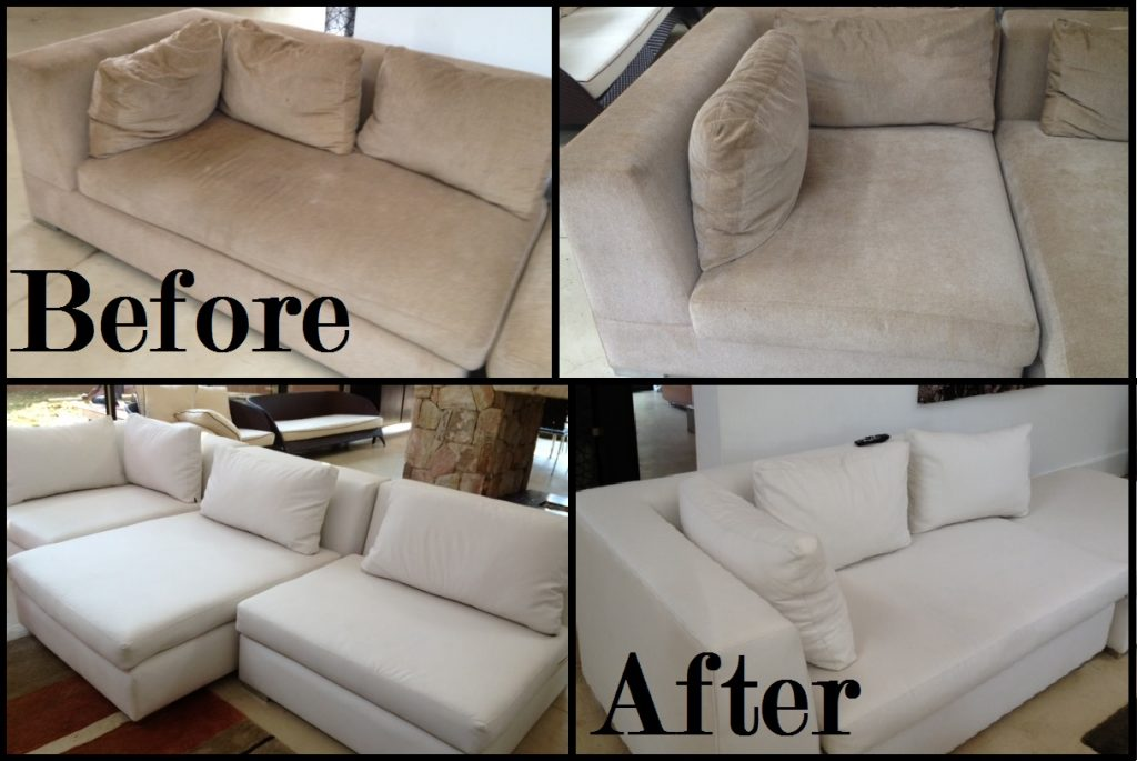 Before-and-After - upholstery cleaning - pristine