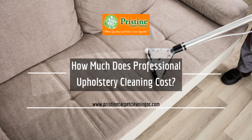 Professional upholstery cleaning cost