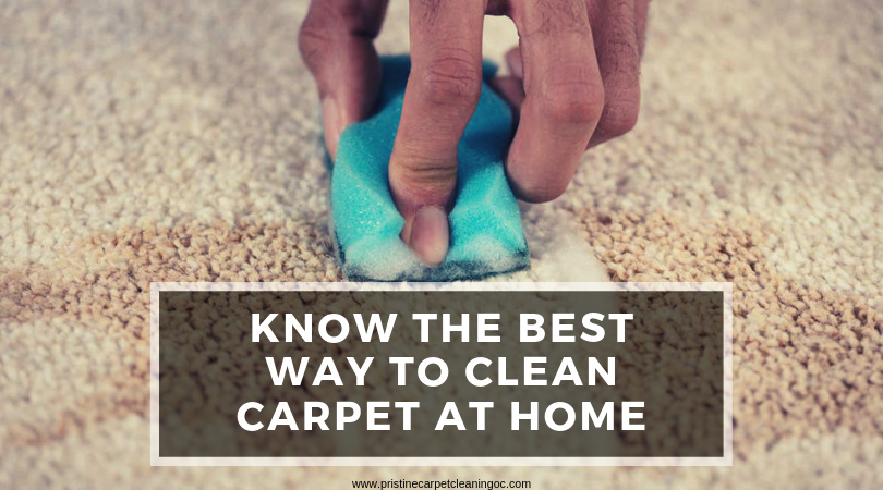 Know The Best Way to Clean Carpet at Home